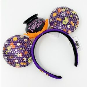 DISNEY PARKS Hocus Pocus Glow-in-the-dark Ears NWT